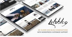 Lets blog WordPress theme for magazine