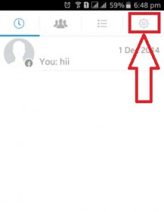 Tap on Settings on android phone
