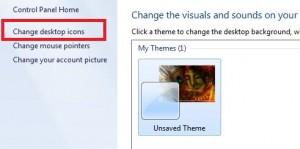 Tap on change desktop icons on top left side