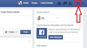 Tap on privacy shortcut to block facebook user page