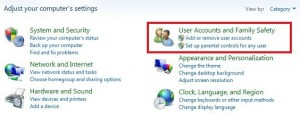 Tap on user account & family safety