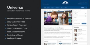 Universe education responsive wordpress theme 2016