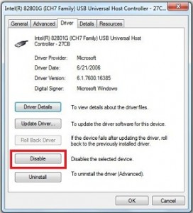 Disable USB Ports in windows 7 using Device Manager