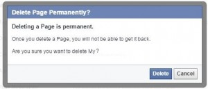 How to delete facebook page permanently