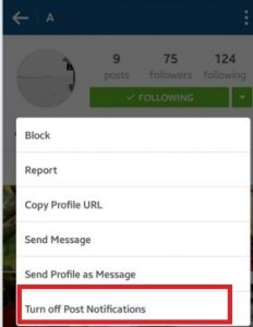How to turn off instagram push notifications android