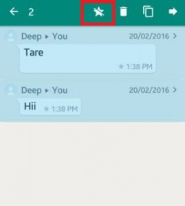 How to use WhatsApp starred messages android lollipop
