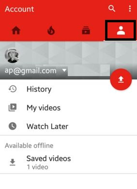 How to clear YouTube search history android phone or tablet