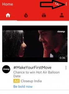 Tap on three vertical dots form top side corner YouTube