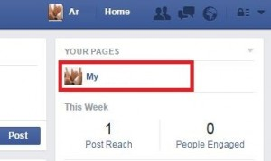 Tap on your created facebook page
