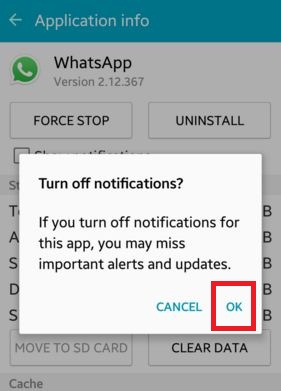 How to enable / disable push notifications android lollipop (5.1.1)