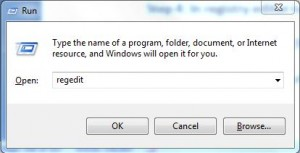 enter regedit in windows run