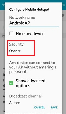 How to configure mobile hotspot android phone