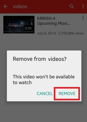 How to delete YouTube videos android phone or tablet