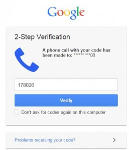 How to enable two step verification gmail account