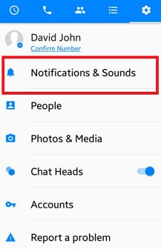 How to enable /disable facebook messenger sound android