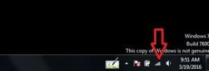 Tap on wifi symbol from Windows taskbar