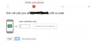Verify two step verification call on gmail