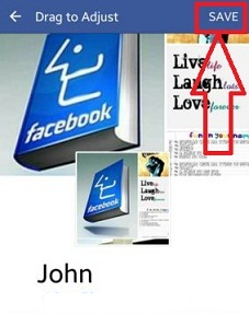 How to change facebook cover photo android