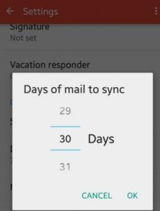 gmail sync mail days time
