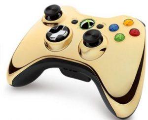 Best Xbox 360 wireless controller chrome gold