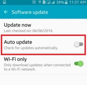 How to turn off auto update android phone