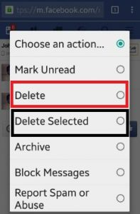 How to delete facebook entire chat history android lollipop
