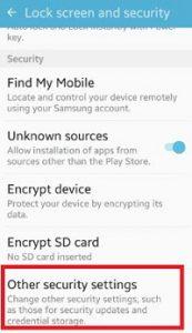 open-security-settings-under-lock-screen-security