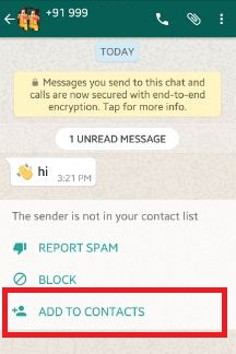 How to add new WhatsApp contact android phone & tablet