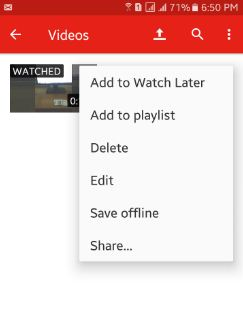 How to upload video to YouTube android phone: lollipop