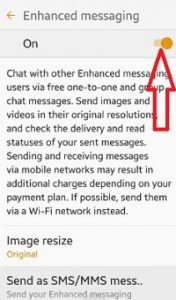 turn off enhanced messaging android