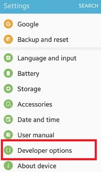 How to set desktop backup password android phone