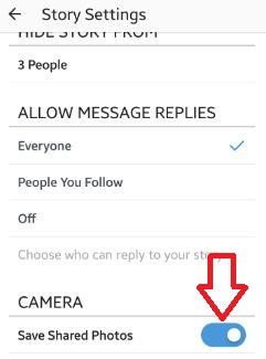 How to save shared photos instagram story android phone