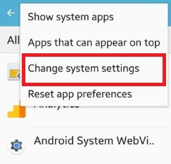 How to change system settings android phone: Lollipop