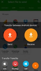 transfer files android to Windows phone