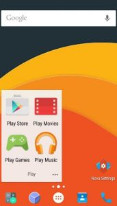 Nova Launcher apps for android smartphone