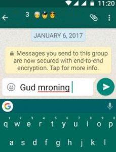 Check auto correction text in Nougat