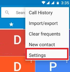 Phone settings on android 7.0 Nougat