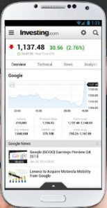 Stock & forex app for android phone