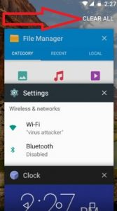 clear all recent apps android 7.0 Nougat