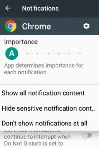 turn off lock screen notifications android Nougat