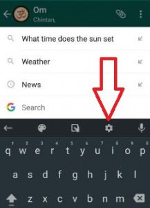 turn off prediction text on WhatsApp android phone