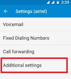 Additional settings on moto G4 plus