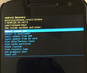 Google pixel xl reboot system