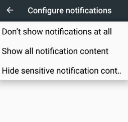 Hide sensitive notifications content from lock screen on android
