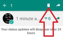 deleted update WhatsApp status android phone