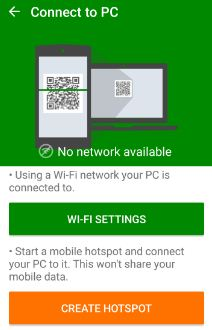 Connect Xender using Wi-Fi device