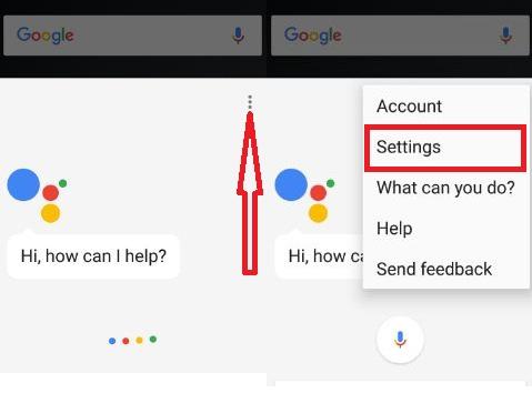 Google Assistant Settings on nougat