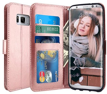 LK Luxury PU leather wallet case for galaxy S8