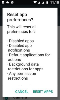 Reset apps in your android 7.0 nougat phone