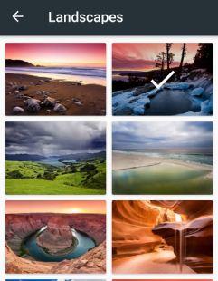 Set landscape photo on Google keyboard background theme